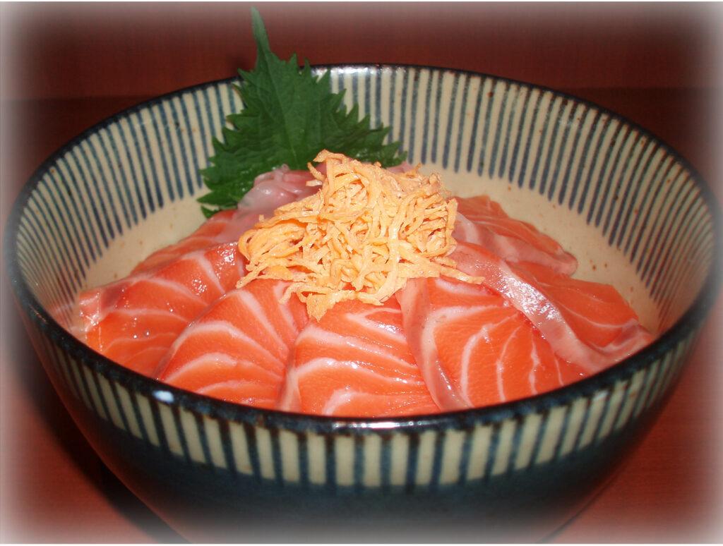 サーモン丼定食